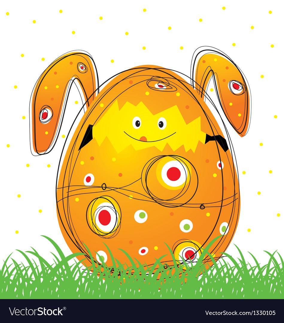 Easter egg design vector | Price: 1 Credit (USD $1)