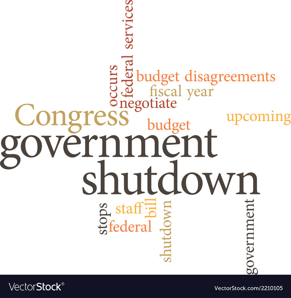 Government shutdown vector | Price: 1 Credit (USD $1)