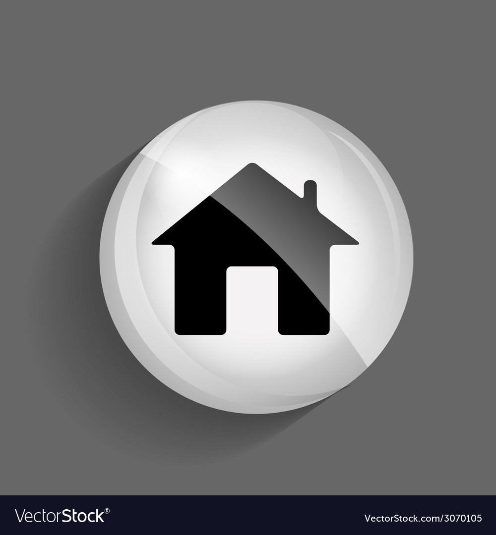 Home glossy icon vector | Price: 1 Credit (USD $1)