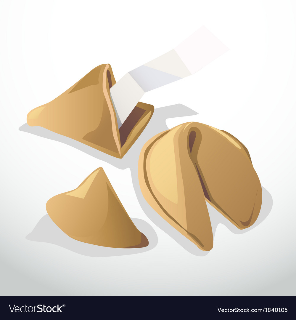 Lucky cookie vector