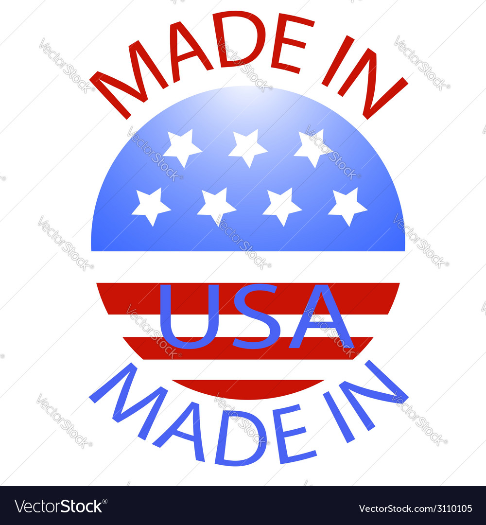 Made in usa badge vector | Price: 1 Credit (USD $1)