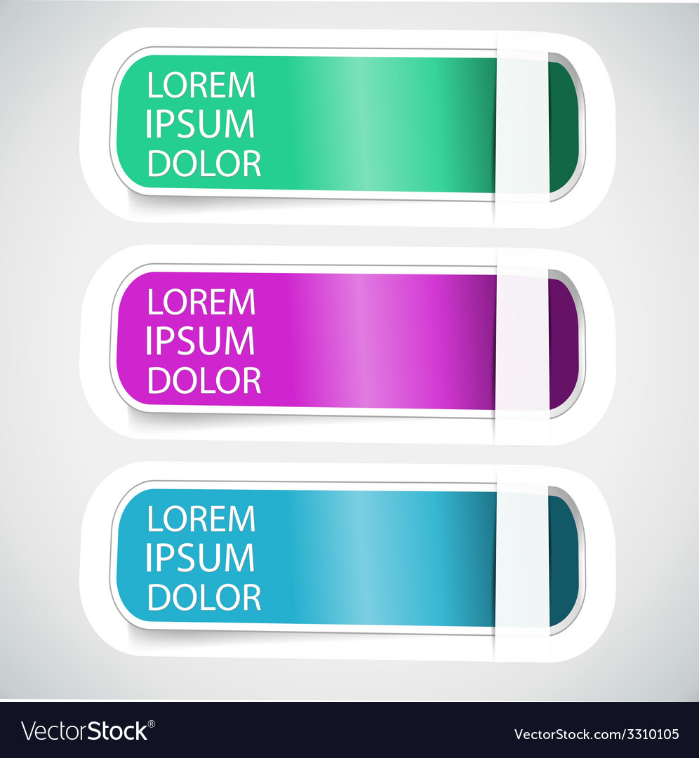 Multicolored tab banner elements vector | Price: 1 Credit (USD $1)