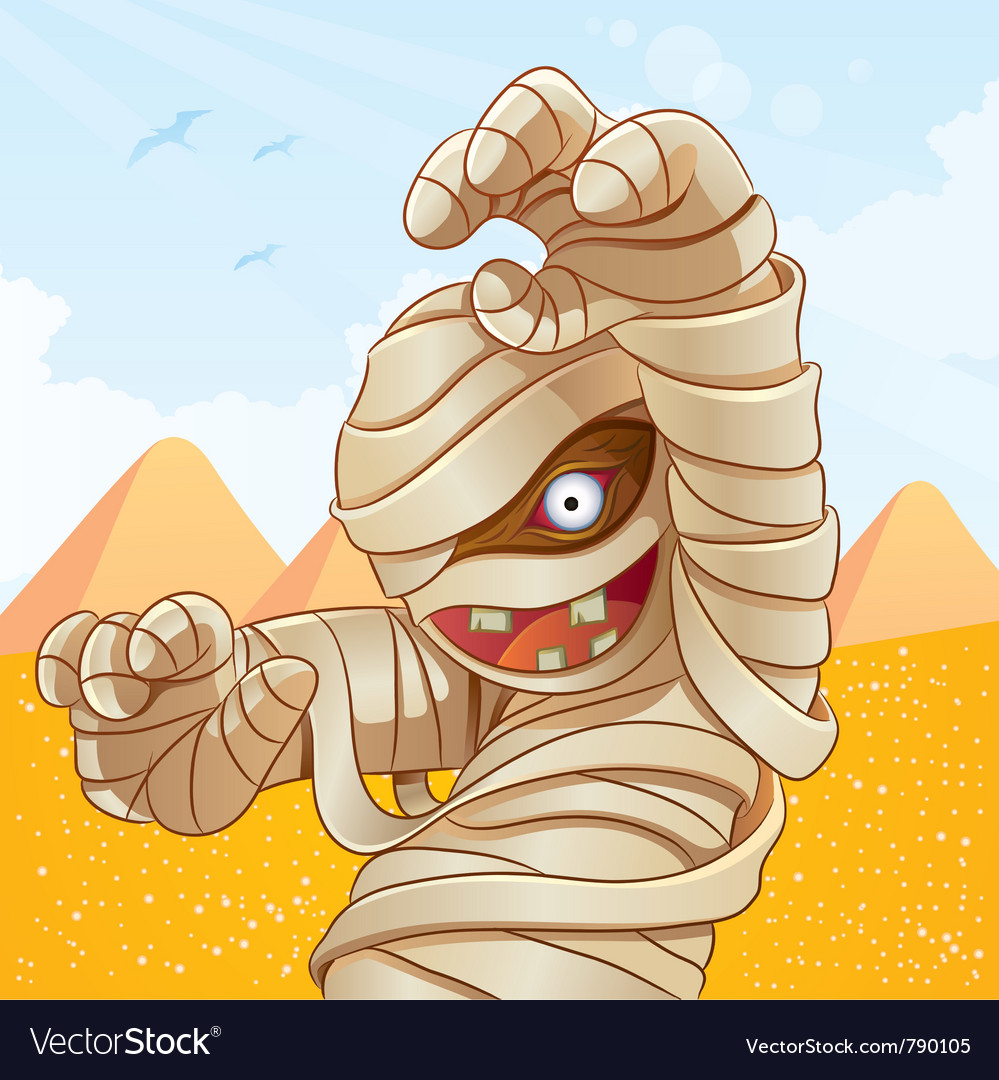Mummy cartoon vector | Price: 5 Credit (USD $5)