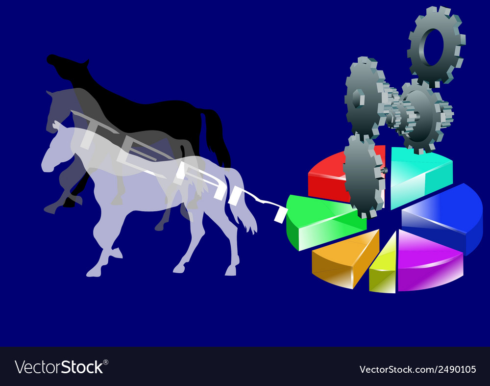 Team with horses vector | Price: 1 Credit (USD $1)