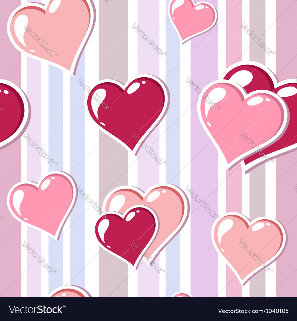 Valentine love stripped background vector | Price: 1 Credit (USD $1)