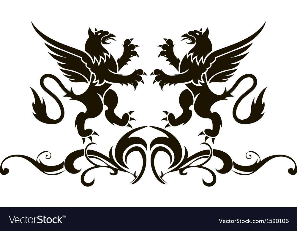 Background heraldry decoration vector | Price: 1 Credit (USD $1)