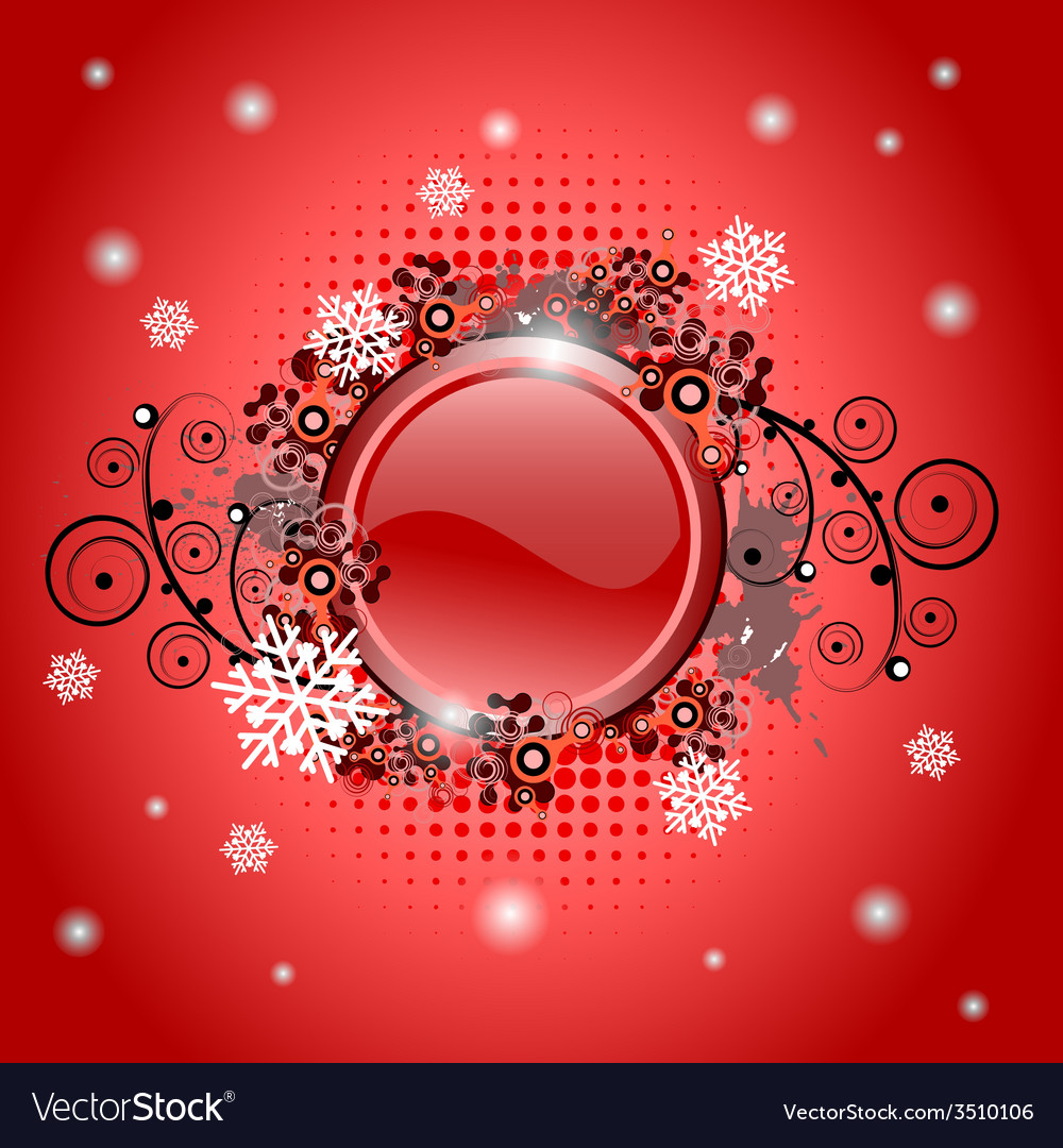 Christmas glossy button vector | Price: 1 Credit (USD $1)