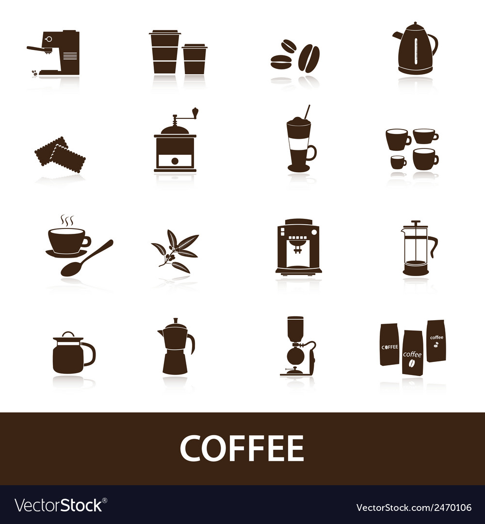 Coffee icons set eps10 vector | Price: 1 Credit (USD $1)