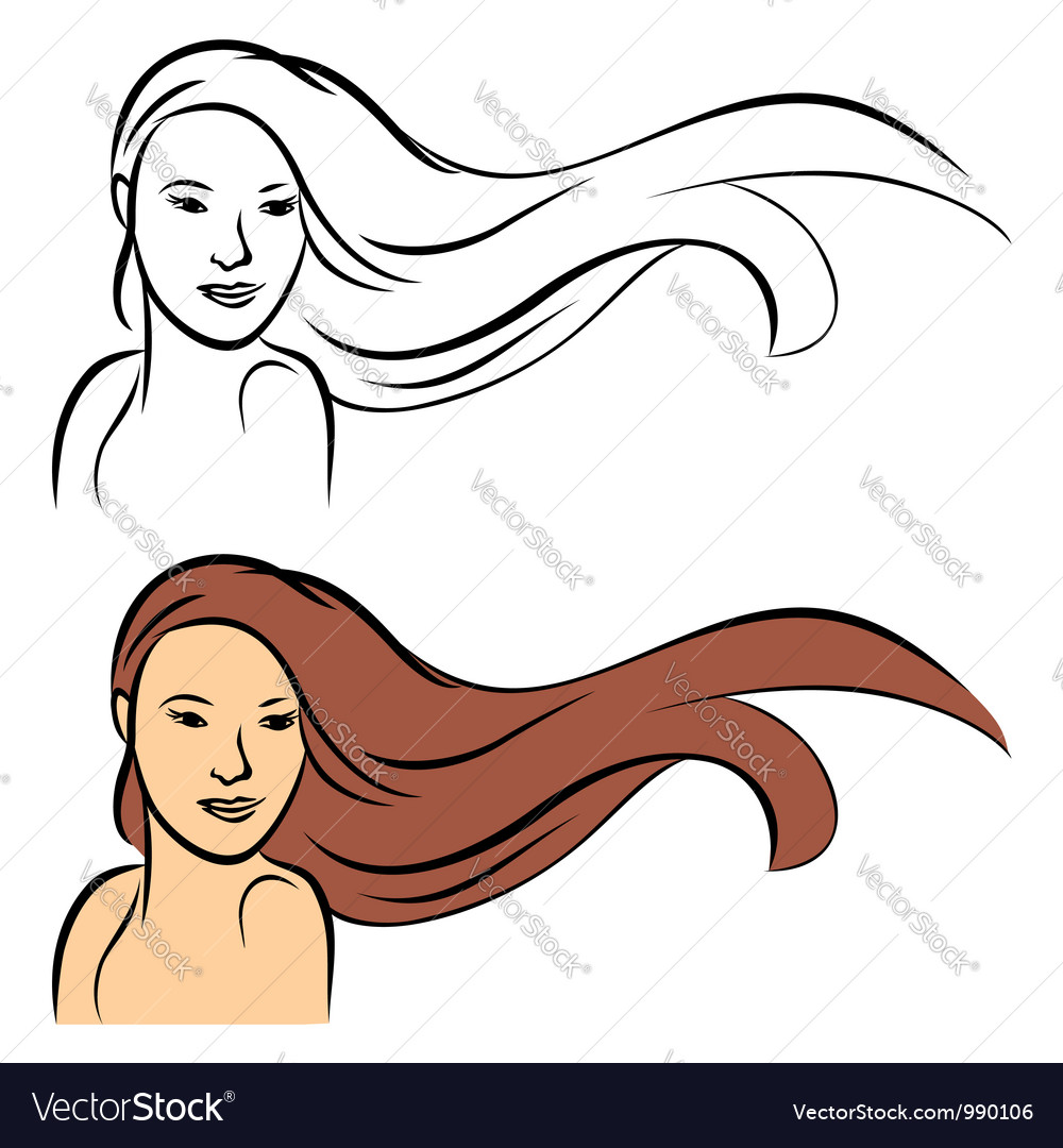 Long hair vector | Price: 1 Credit (USD $1)