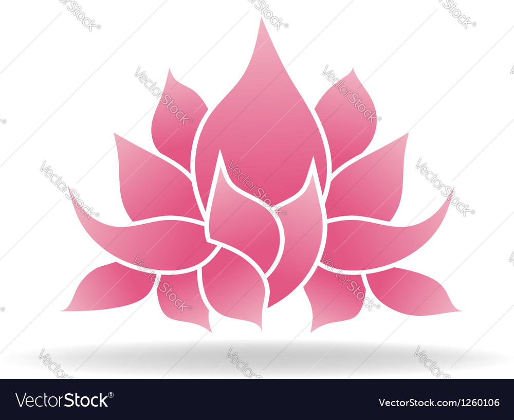 Lotus flower logo vector | Price: 1 Credit (USD $1)