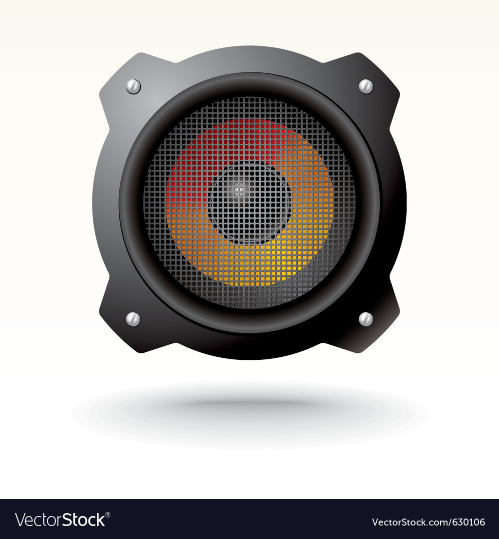 Modern speaker vector | Price: 3 Credit (USD $3)