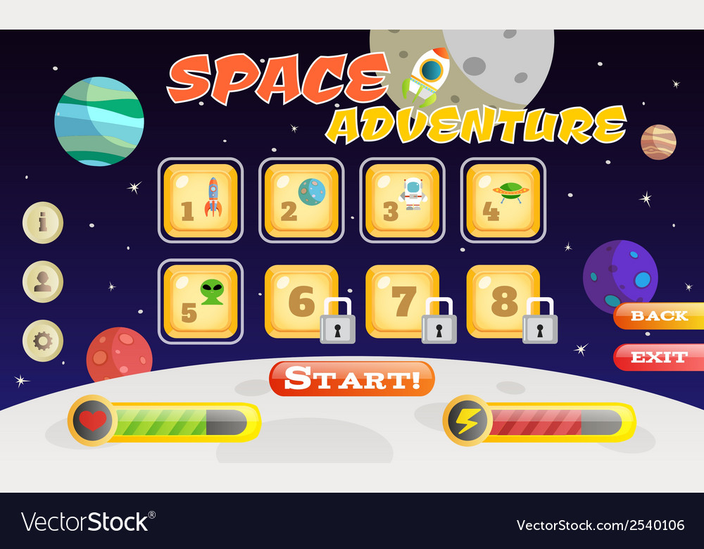 Scifi game interface vector   Price: 1 Credit (USD $1)