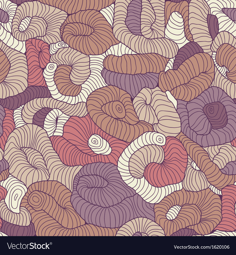 Seamless tangled pattern in colors vector | Price: 1 Credit (USD $1)