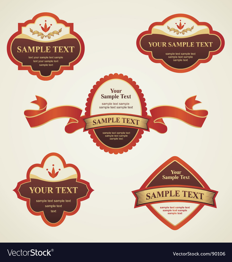 Vintage labels vector | Price: 1 Credit (USD $1)