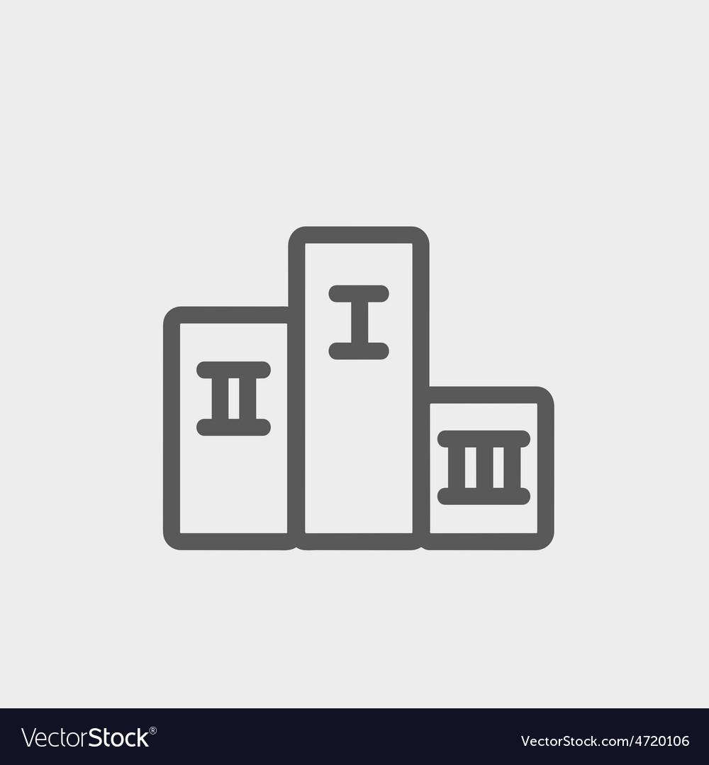 Winners podium thin line icon vector | Price: 1 Credit (USD $1)