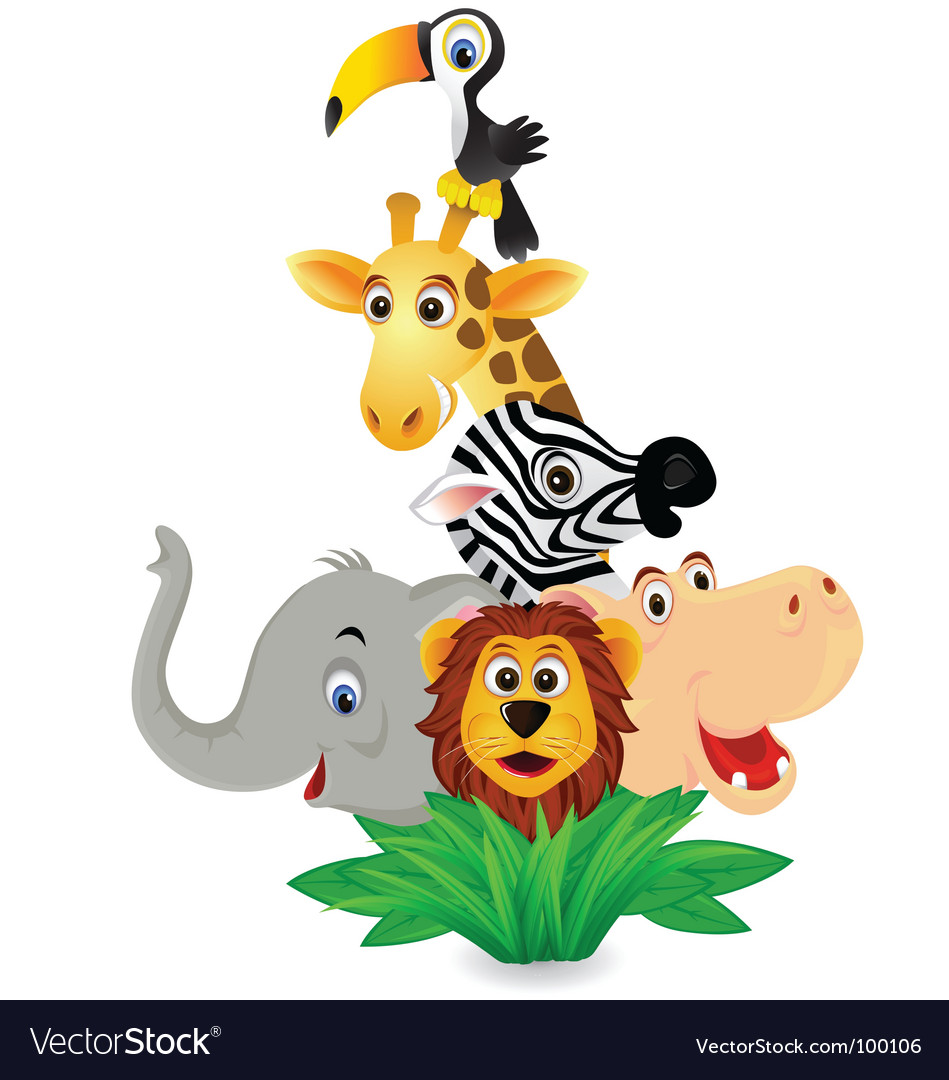 Zoo animals vector | Price: 3 Credit (USD $3)