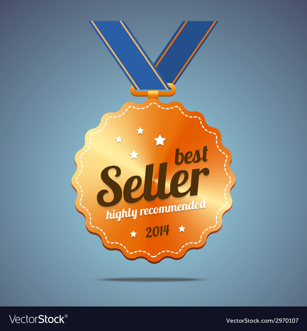 Best seller award medal vector | Price: 1 Credit (USD $1)