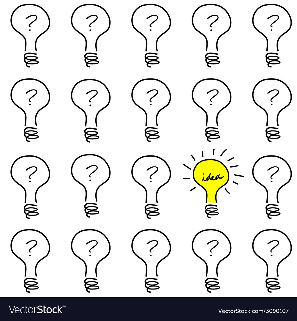 Creative concept with bulb light vector | Price: 1 Credit (USD $1)