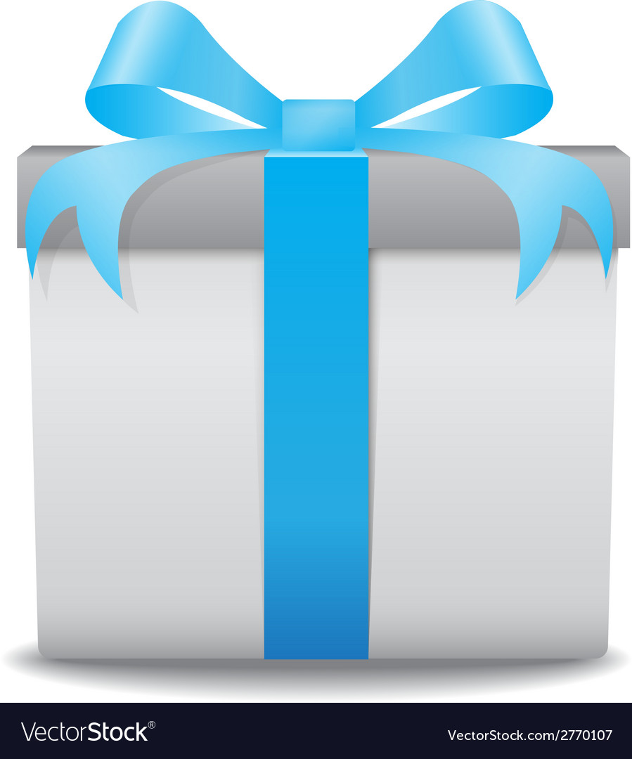 Gift box blue vector | Price: 1 Credit (USD $1)