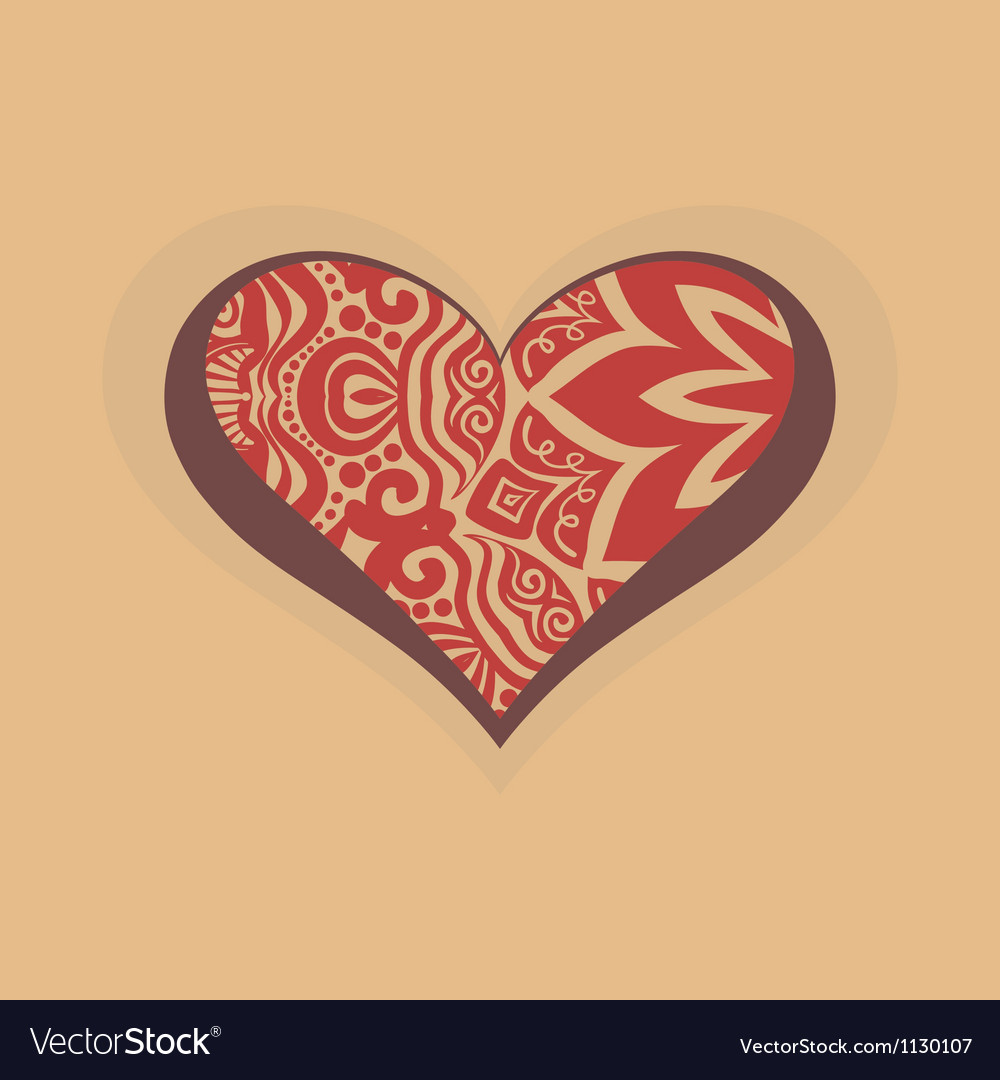 Heart with graphic design decoration vector | Price: 1 Credit (USD $1)