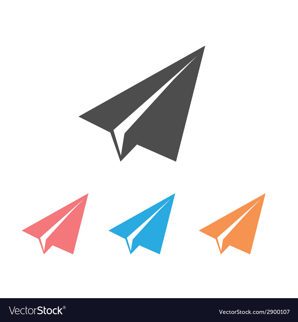 Paper airplane flat icons vector | Price: 1 Credit (USD $1)