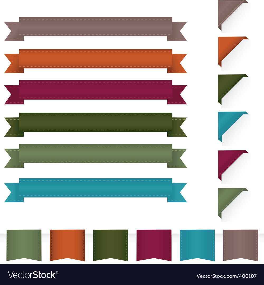 Ribbon design elements vector | Price: 1 Credit (USD $1)