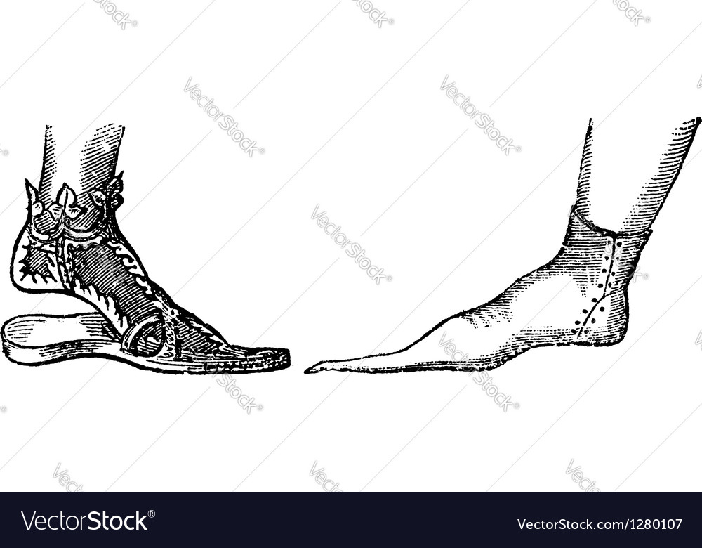 Sandal vintage engraving vector | Price: 1 Credit (USD $1)