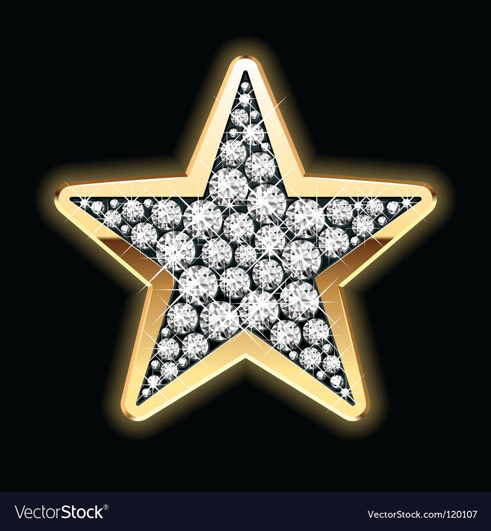 Star shape in diamonds vector | Price: 1 Credit (USD $1)