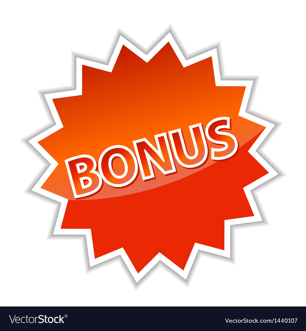 Web button bonus vector | Price: 1 Credit (USD $1)