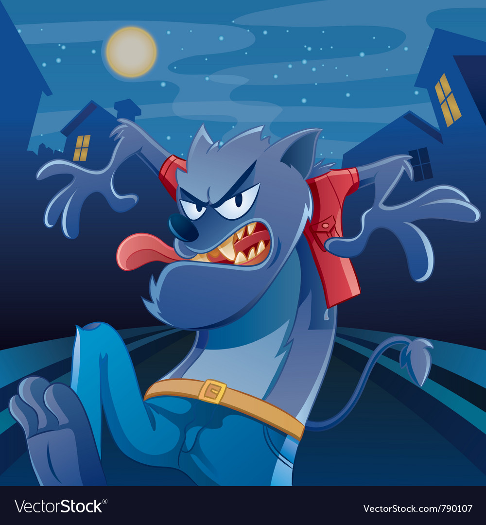 Werewolf cartoon vector | Price: 5 Credit (USD $5)