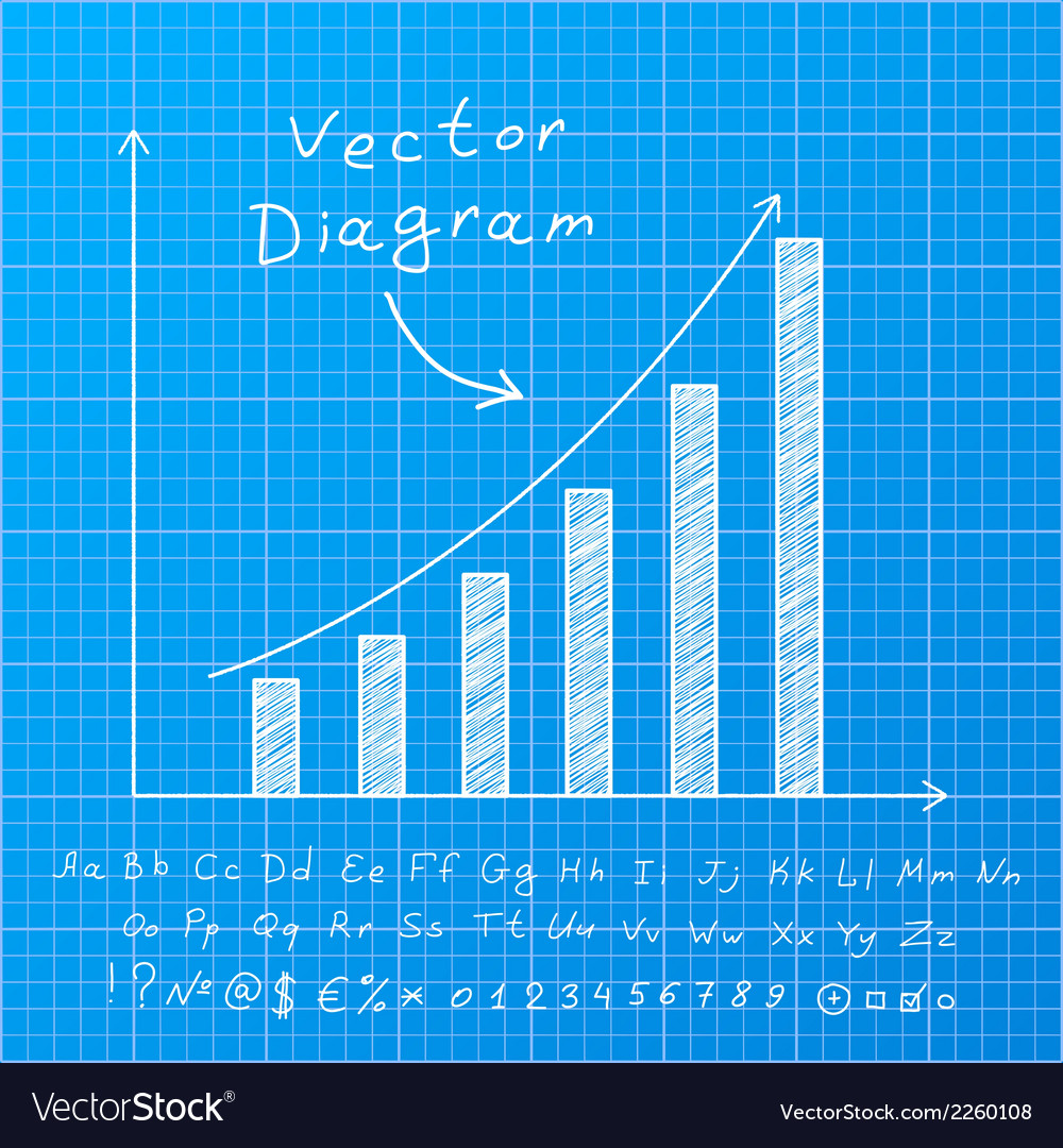 Blueprint diagram vector | Price: 1 Credit (USD $1)
