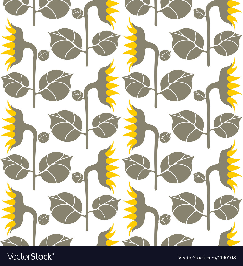 Floral pattern sunflower vector | Price: 1 Credit (USD $1)