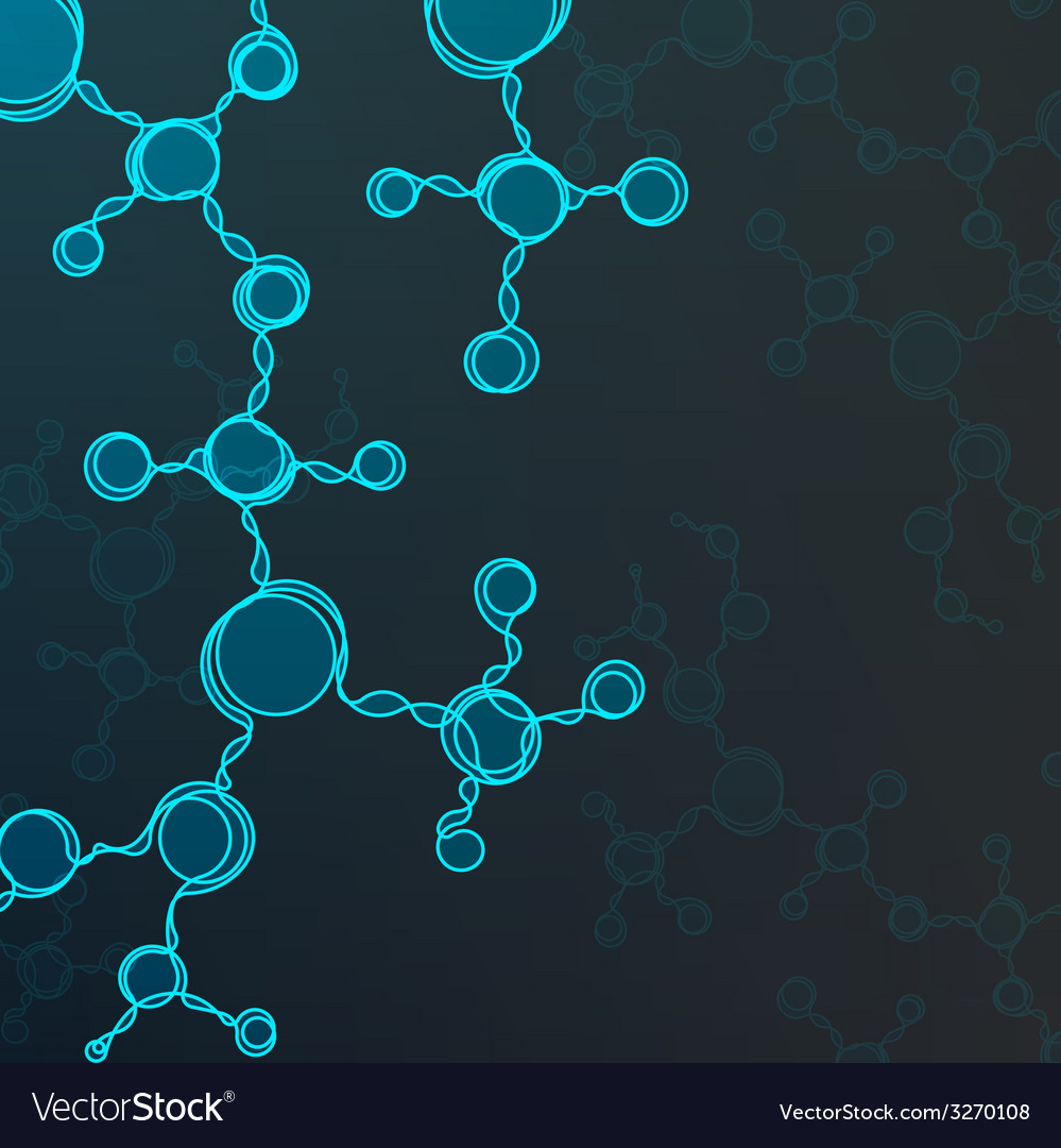 Futuristic dna abstract molecule vector | Price: 1 Credit (USD $1)