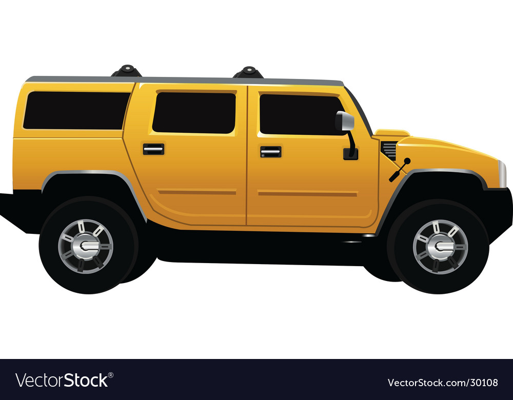 Hummer vehicle vector | Price: 1 Credit (USD $1)