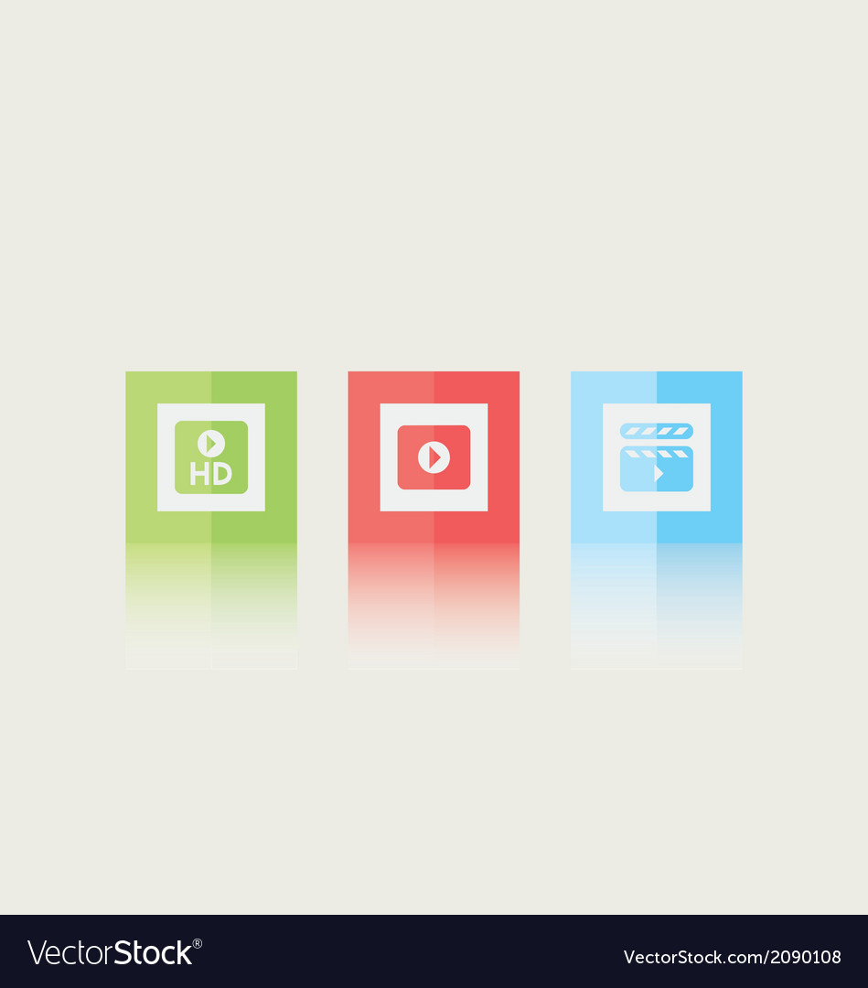 Video icons vector | Price: 1 Credit (USD $1)
