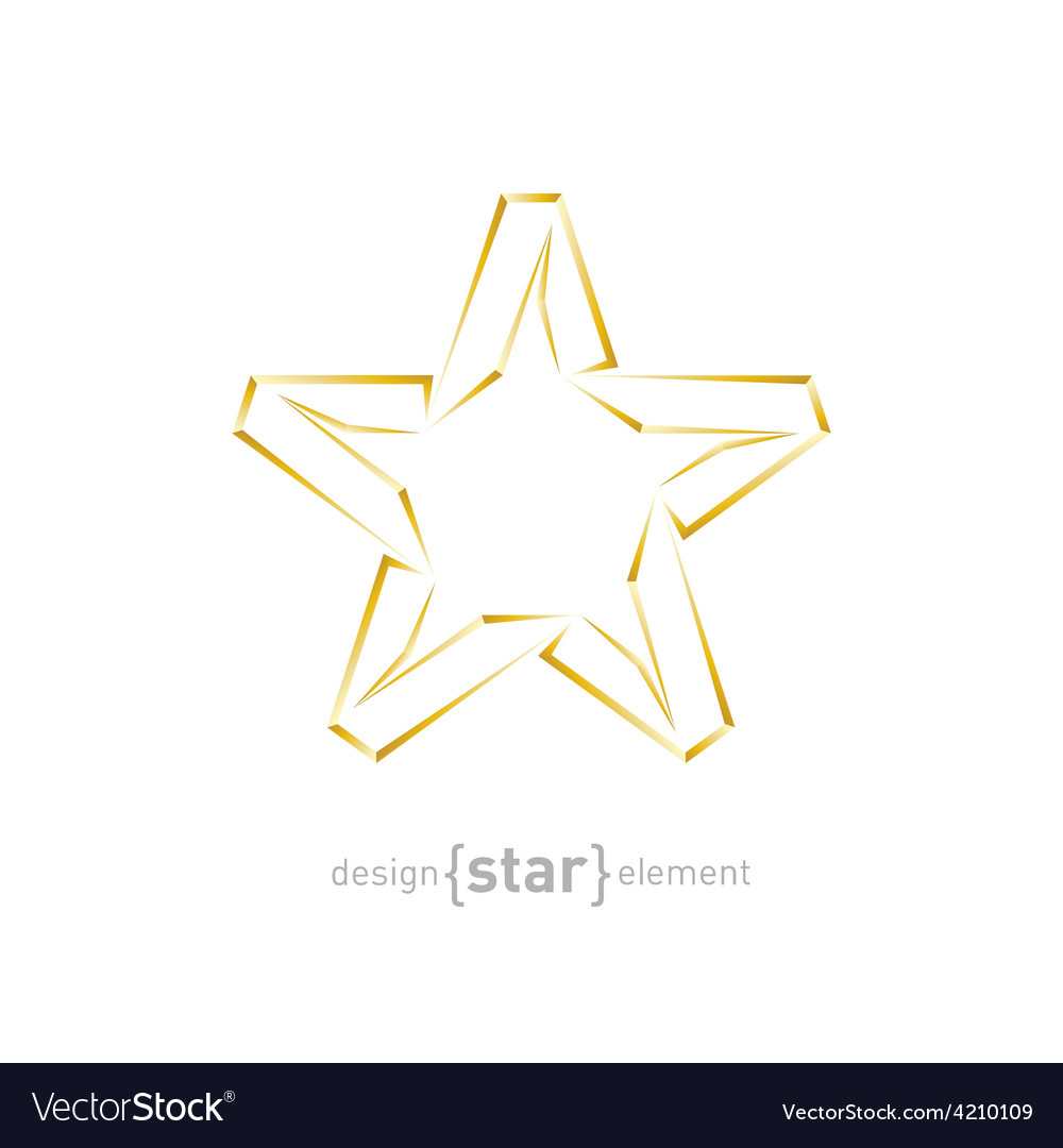 Abstract luxury golden star on white background vector | Price: 1 Credit (USD $1)
