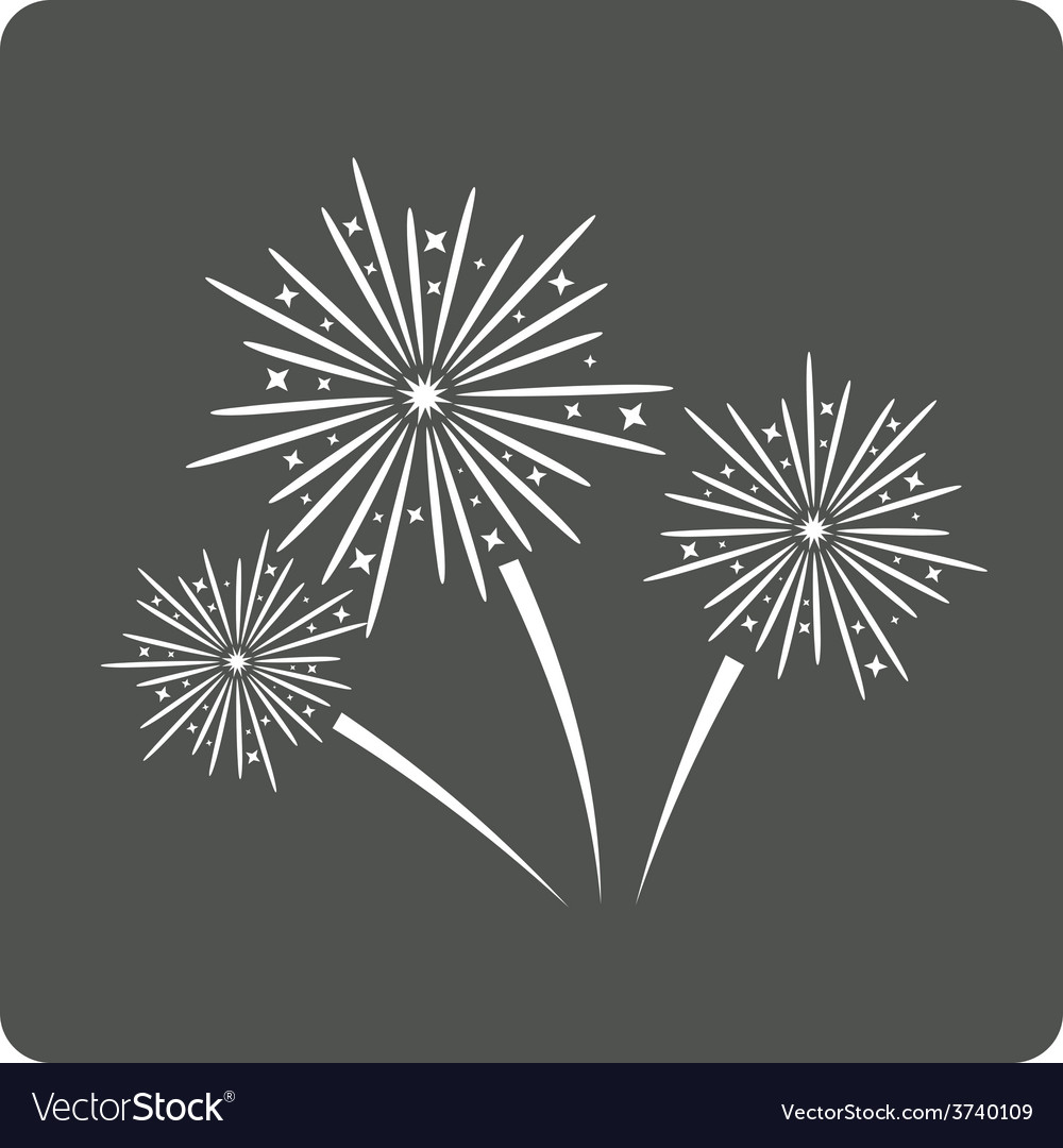 Fireworks sign icon vector | Price: 1 Credit (USD $1)