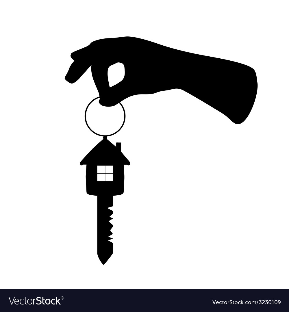Key with house on it and arm vector | Price: 1 Credit (USD $1)