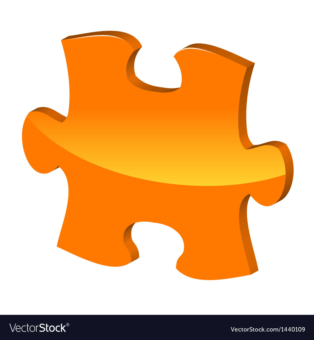 Orange puzzle 3d pie icon vector | Price: 1 Credit (USD $1)