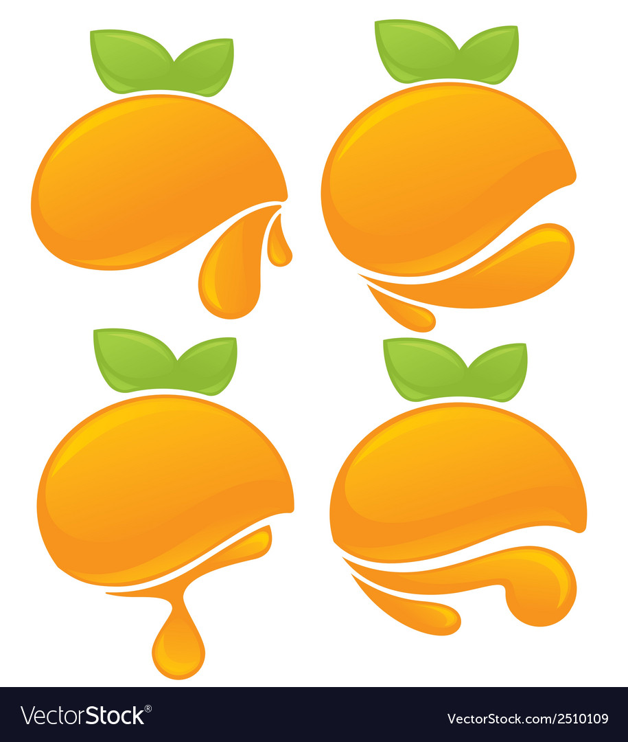 Orange stickers vector | Price: 1 Credit (USD $1)