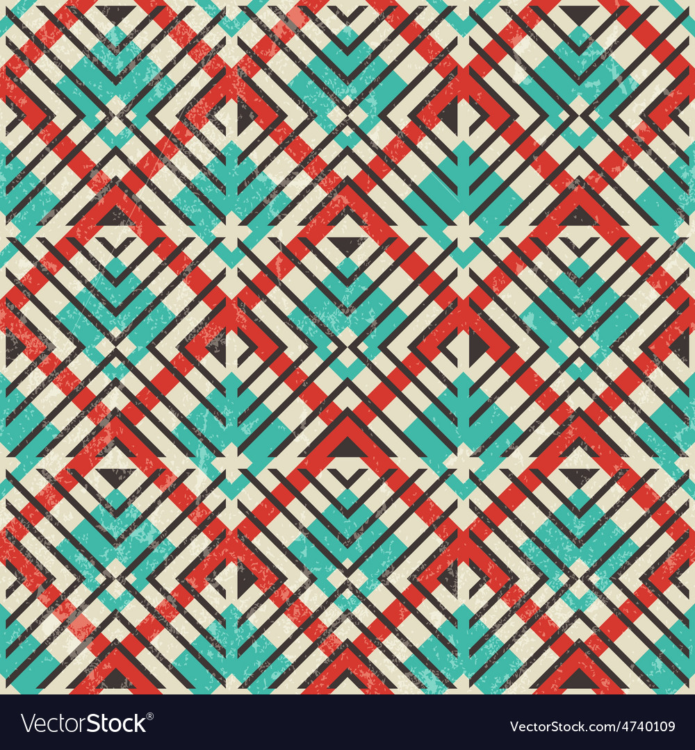 Retro geometric pattern abstract seamless vector   Price: 1 Credit (USD $1)