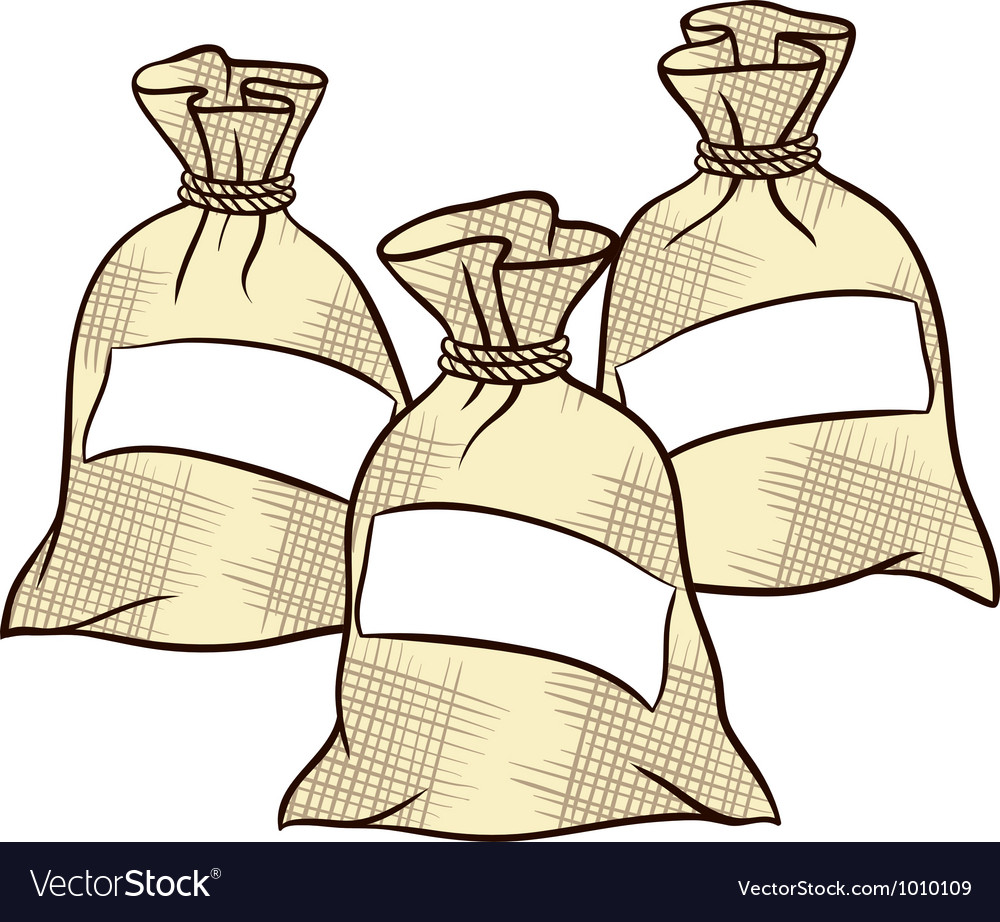 Sacks of flour sugar and salt vector | Price: 1 Credit (USD $1)