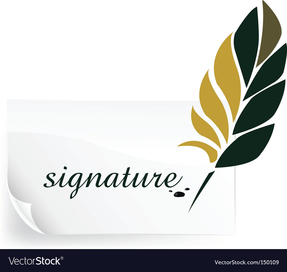 Signature vector | Price: 1 Credit (USD $1)