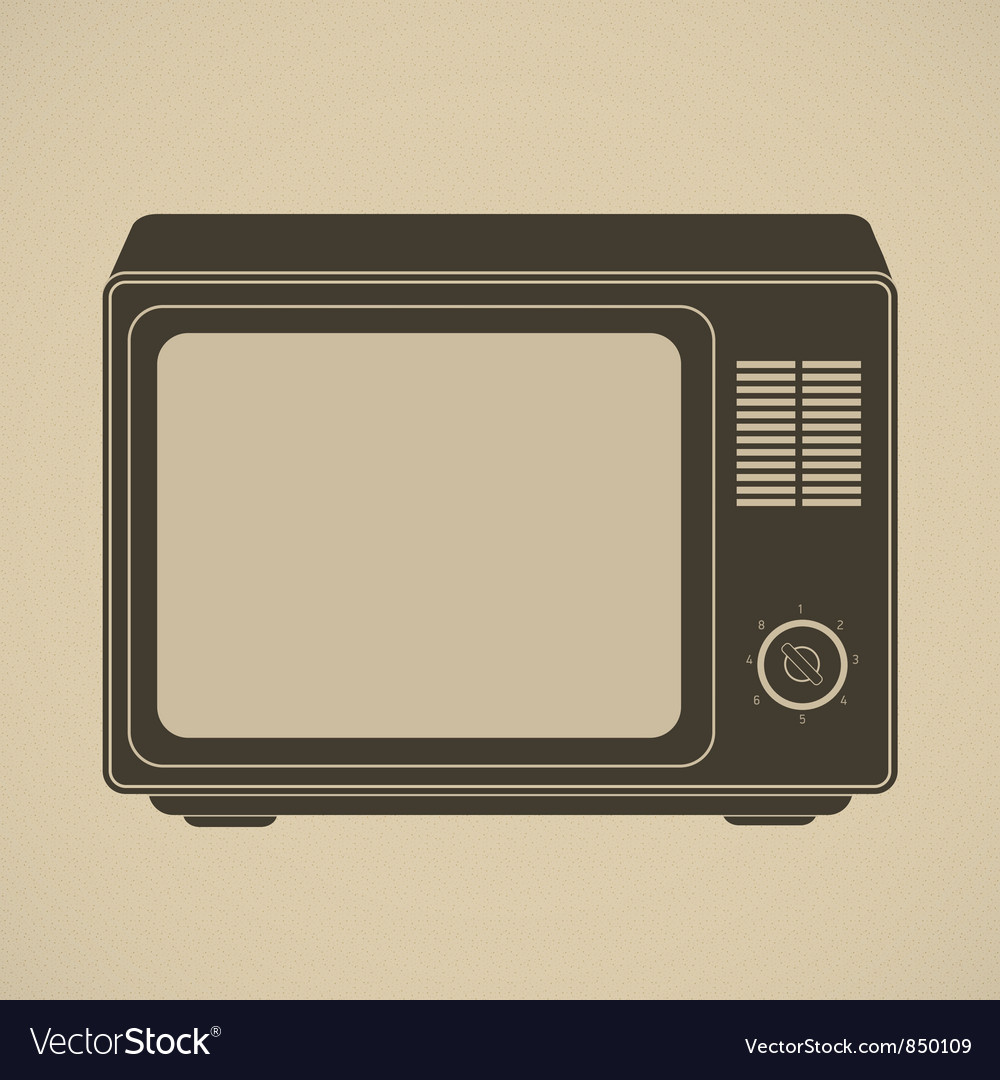 Silhouette of retro tv set vector | Price: 1 Credit (USD $1)