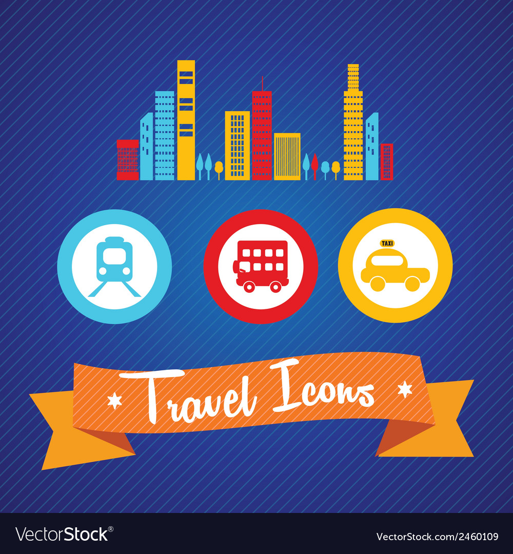 Travel and transport icons vector | Price: 1 Credit (USD $1)