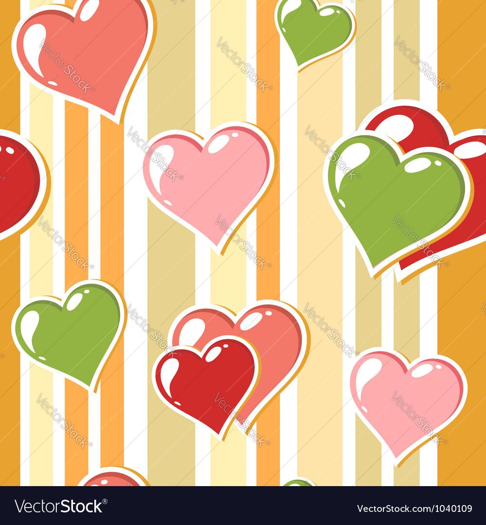 Valentine love stripped background vector | Price: 1 Credit (USD $1)