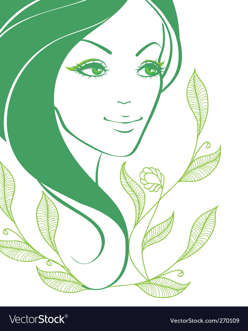 Women face back vector | Price: 3 Credit (USD $3)