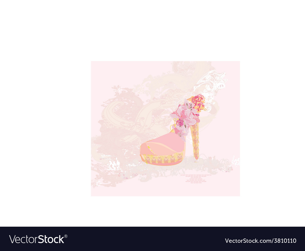 Abstract shoes vintage poster vector | Price: 1 Credit (USD $1)