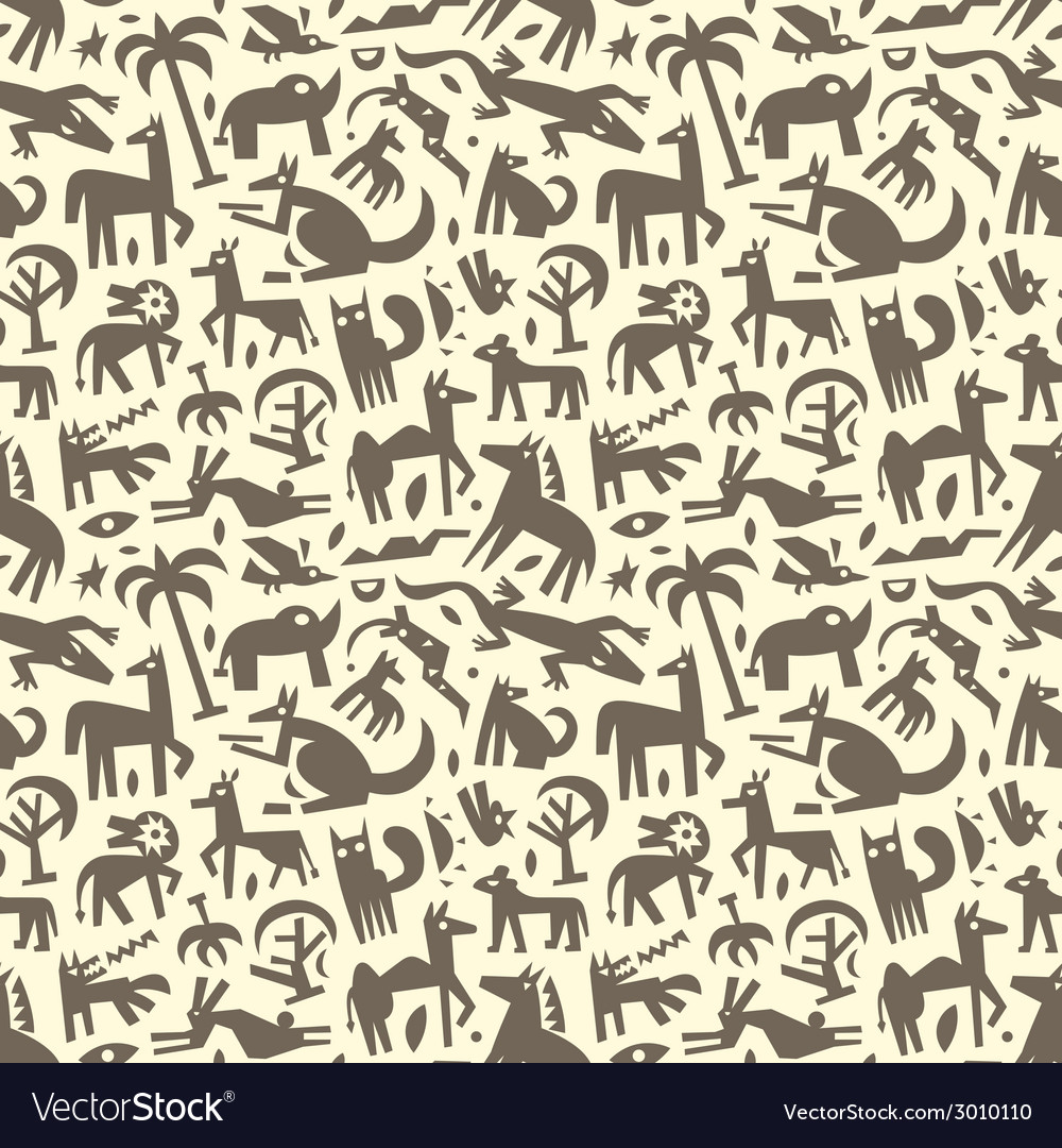 Animals - abstract seamless background vector | Price: 1 Credit (USD $1)