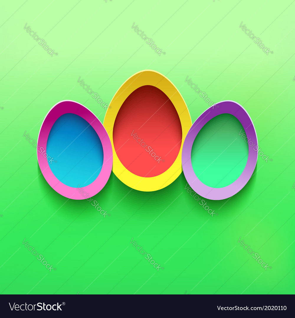 Background with colorful 3d easter egg vector   Price: 1 Credit (USD $1)